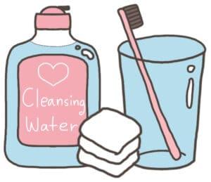 การทำความสะอาดใบหน้าหลังทำคาง